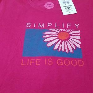 Life is Good short sleeves T-shirt